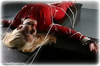 Free bondage photo Nikki ballgag, leather bondage, pvc, rope bondage