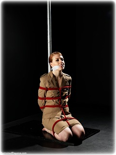 restrained elegance barefoot bondage rope handcuffs glamour bondage photo