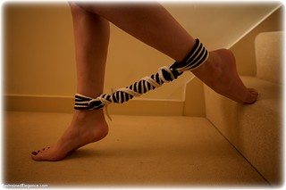 Bondage photo pic picture Sophia Smith barefoot, brunette, cloth gag, nude, rope bondage