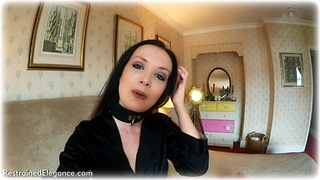 Bondage photo pic picture Faye rope bondage, ballgag, barefoot, satin, bedroom, self bondage, brunette, slave training, business wear, leather bondage, collar, nightwear, nude