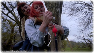 Bondage photo pic picture Ariel Anderssen, Temptress Kate and Zoe Page ballgag, girlgirl, barefoot, bastinado, satin, handcuffs, blonde, shackles, blouse, shoes, silk, boots, jeans, brunette, slave training, sm factory, leg irons, chains, spreader bar, stockings, collar, sweater, corset, nude, denim, outdoor, tickle, drama, tickling, pencil skirt, redhead, fur coat