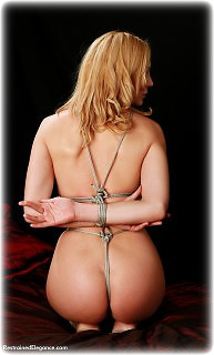 Bondage photo pic picture Ariel Anderssen rope bondage, barefoot, slave training, nude, crotch rope