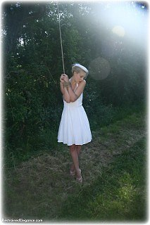 Bondage photo pic picture Ariel Anderssen rope bondage, barefoot, shoes, outdoor