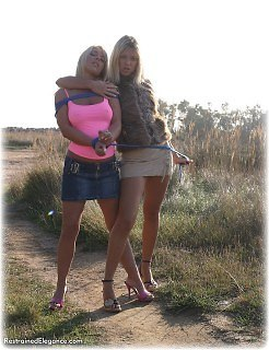 Bondage photo pic picture Belle and Debby Turpin girlgirl, rope bondage, humiliation, shoes, lesbian, outdoor