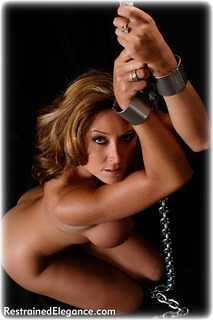 Bondage photo pic picture Christina Carter barefoot, shackles, leg irons, chains, medieval, nude, ungagged