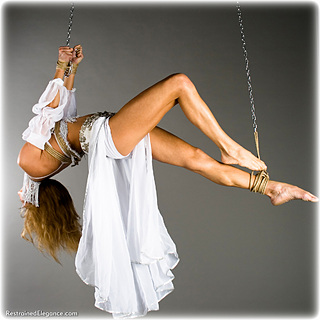 Bondage photo pic picture Delta rope bondage, barefoot, harem, chains, suspension