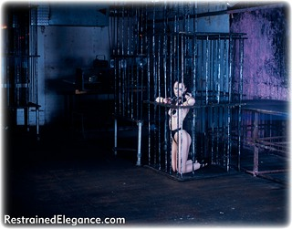 Bondage photo pic picture Industrial Bitch shackles, shoes, cage, metal bondage, collar