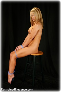 Bondage photo pic picture Jasmine Sinclair barefoot, blonde, nude, ungagged