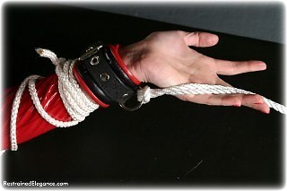 Bondage photo pic picture Nikki leather bondage, pvc, rope bondage, shoes