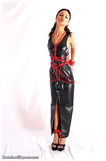 Bondage photo pic picture Roxanne barefoot, shoes, pvc