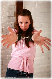 Bondage photo pic picture Sophia Smith barefoot, handcuffs, humiliation, leg irons, chains, lingerie, nude, topless