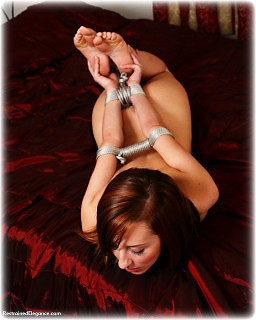 Bondage photo pic picture Sophia Smith rope bondage, barefoot, hogtie, nude