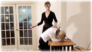 Bondage photo pic picture Ariel Anderssen and Belle girlgirl, barefoot, satin, humiliation, shoes, leather bondage, silk, cane, slave training, chains, lesbian, collar, corporal punishment
