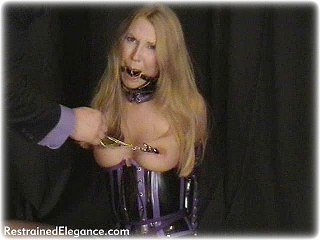 Bondage photo pic picture Missey ballgag, humiliation, slave training, corporal punishment