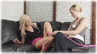 Bondage photo pic picture Ariel Anderssen and Paige Robbins girlgirl, rope bondage, barefoot