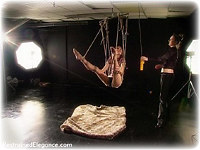 Free bondage photo Chanta Rose and Sophia Smith rope bondage, barefoot, suspension