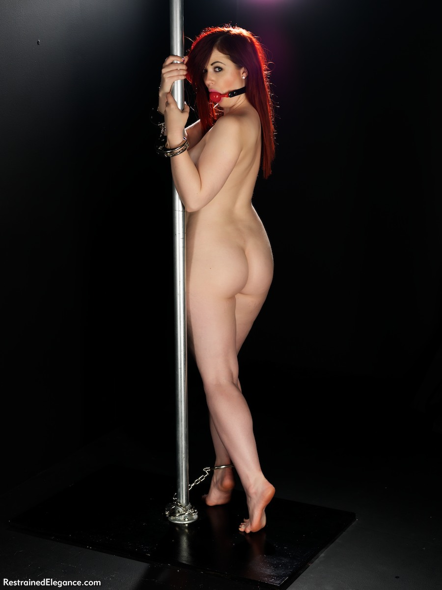 girl tied to pole anked